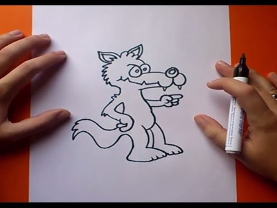Como dibujar un lobo paso a paso 3 | How to draw a wolf 3