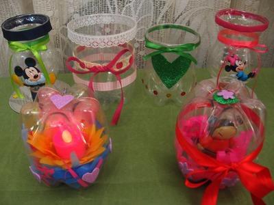 Como hacer recipientes con botellas plásticas