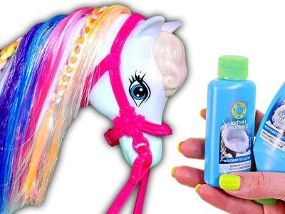 Como Pintar el Pelo Caballo de Barbie de Muchos Colores ❤ DIY Videos Barbie Cabello DCTC