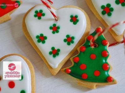 Decoración de galletas para el árbol de navidad. Cuchillito y Tenedor  *2*