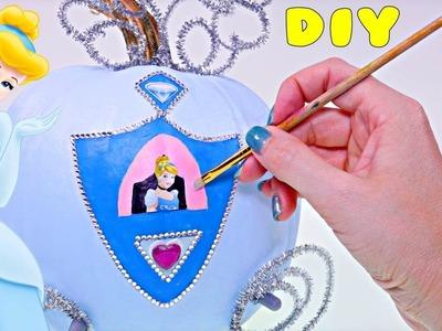 DIY Carruaje de Calabaza de Cenicienta ♛ Manualidades Disney Princesas en DCTC