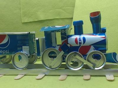 El mas sorprendente e increible tren hecho con latas y te muestra como hacerlo