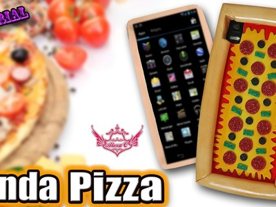 ♥ Tutorial: Funda para móvil o tablet de Pizza || Pizza Phone Case ♥