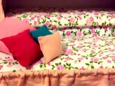 4 parte Como hacer una cama  para  las niñas  de tus barbies  4  Y ultima parte