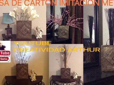 BOLSA DE CARTÓN IMITACION METAL