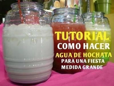 Cómo Hacer Agua De Horchata Para Una Fiesta (Cantidad Grande) - Madelin's Cakes