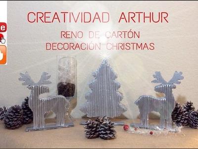 DIY RENO DE CARTON DECORACION PARA NAVIDAD , CHRISTMAS