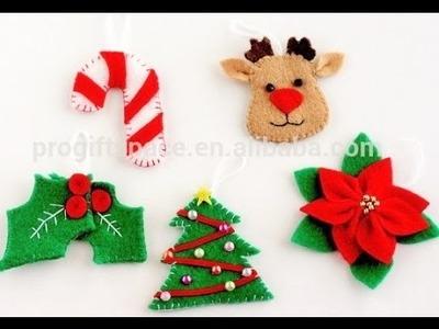 Figuras de Navidad de fieltro - como hacer adornos de navidad