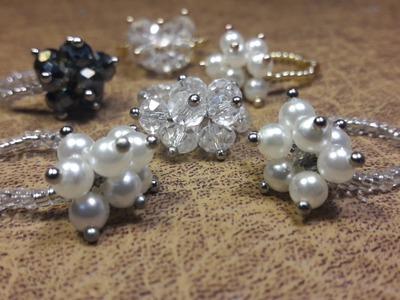 Anillo Con Perlas y Mostacillas. Clase #13