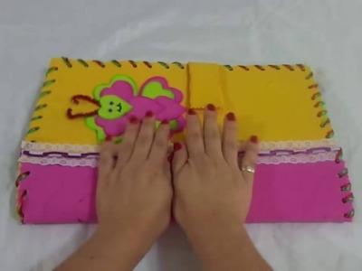 Como hacer el paso a paso de las carpetas en foami. like making step of the folders in foami