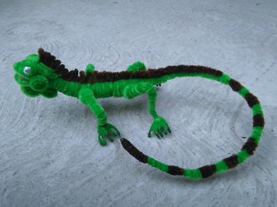Como hacer una iguana con limpiapipas