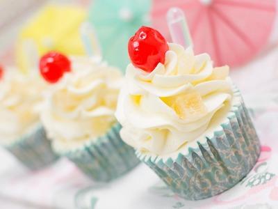 Cupcakes de piña colada - Receta - María Lunarillos | tienda & blog