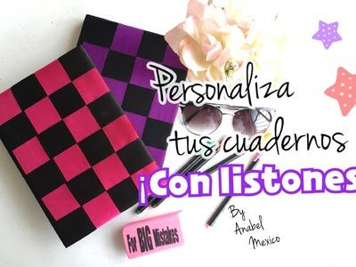 DIY: Personaliza tus libretas con listones!!! ♥ Anabel México