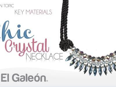 Fashion Topic El Galeón Crystal Chic Necklace (Collar con Cristales)