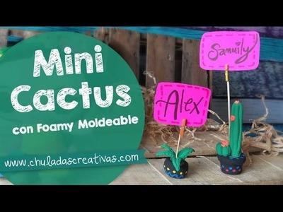 Cactus Mini de Foamy Moldeable (Goma EVA) :: Chuladas Creativas