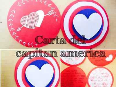 Carta del Capitan America para mi novio.a | Brenda PE |