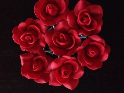 Como Hacer una Rosa en Porcelana Fria