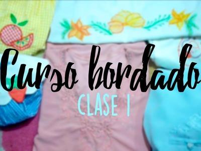 CURSO BORDADO CON MAQUINA DE COSER. | CLASE 1.