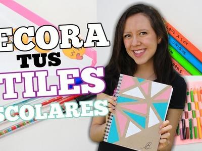 DECORA TUS ÚTILES ESCOLARES. DIY  - Bright Brenda