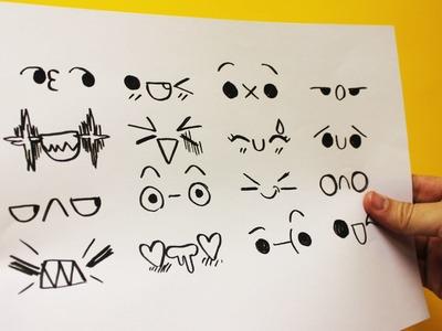 EXPRESIONES KAWAII PARA TUS DIBUJOS Nº 3 - Dibujos Kawaii faciles - How to draw expressions