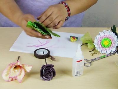 ¡HERMOSA BICICLETA!, decorando con flores de foamy