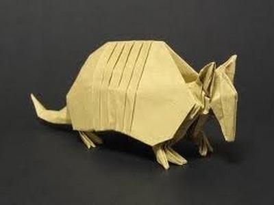 Origami instrucciones de plegado : armadillo