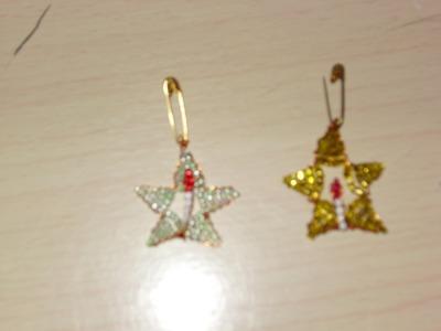 Tutorial de cómo hacer una estrella navideña con chaquiras.