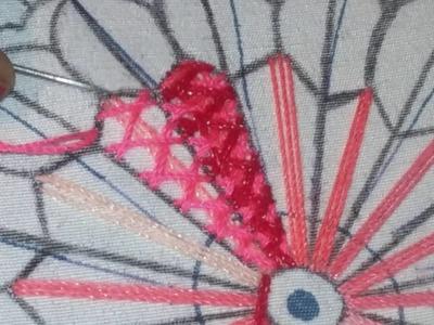 Bordado fantasía flor centro de manda la sol