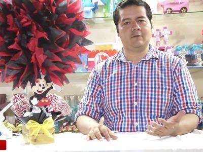 Como hacer centro de mesa  de Mickey Mouse. Mickey Mouse Centerpiece
