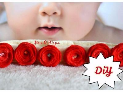 Diadema de flores para bebe paso a paso