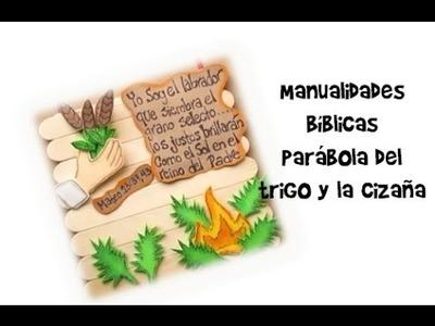 Manualidades Bíblicas. Parábola del trigo y la cizaña. Mateo 13:24