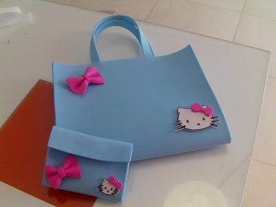 Nuevo bolso de la Hello Kitty de goma eva