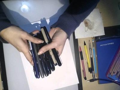 Primeros pasos para ser dibujante de cómic : material de entintado