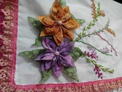 PUNTADA DECORATIVA EN UNA SERVILLETA (decorative stitch on a napkin)