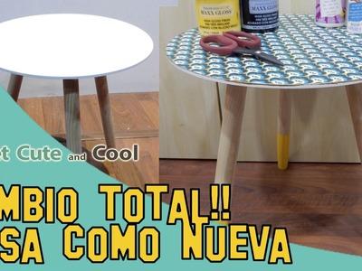 Reciclando una mesa! cambio total con decoupage!