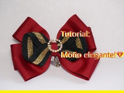 Tutorial: Moño Rojo elegante!