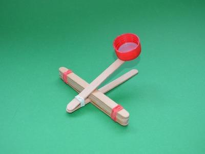 Como hacer una catapulta | Catapulta Casera | Armas de papel