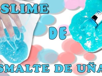 DIY  | SLIME DE ESMALTE DE UÑAS  | SLIME SIN BORÁX