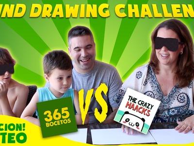 BLIND DRAWING CHALLENGE - SORTEO - Reto de dibujar con los ojos cerrados - the crazy haaks reto