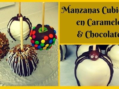 Como Hacer  Manzanas cubiertas con Caramelo & Chocolate