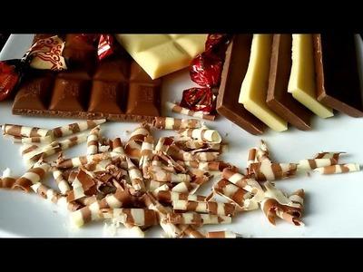 Cómo hacer virutas de chocolate para decorar tartas