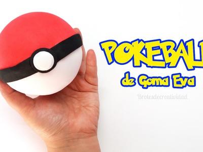 DIY : Como hacer una Pokeball de goma eva.foamy - Brotes de Creatividad