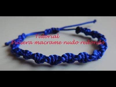 DIY. Como hacer una pulsera de macrame con nudo redondo. Bracelet knot.