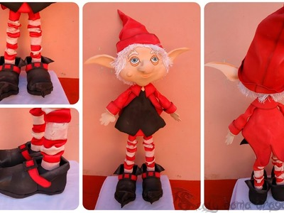 Duende mágico | fofucho navideño | Cuentos y leyendas - Parte 2.3 cuerpo, piernas y zapatos