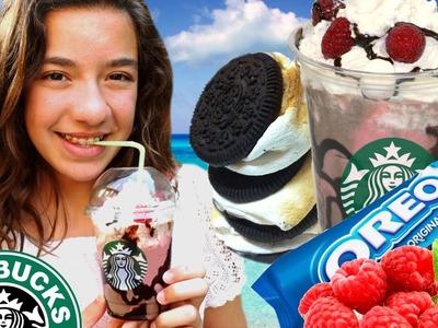 Frapuccino de STARBUCKS Smore con marshmallows Oreo y frambuesas. #Starbucks