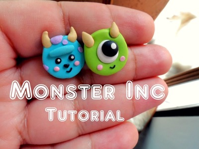 Tutorial Monster Inc Aretes | Sulley and Mike Wazowski polymer clay
