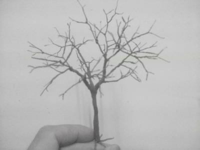 Árbol hecho con  alambre para maquetas #2