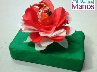 Como decorar bombones con papel seda