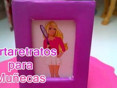 Como hacer PORTARETRATOS para muñecas. Miniature doll