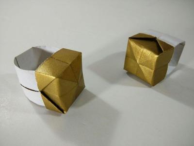 Como hacer un anillo de papel muy facil - Origami sencillo